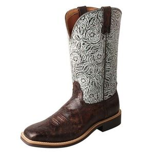 TWISTED X TOP HAND WESTERN BOOTS WIDE SQUARE TOE